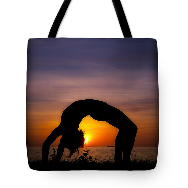 Sunset Yoga Tote Bag