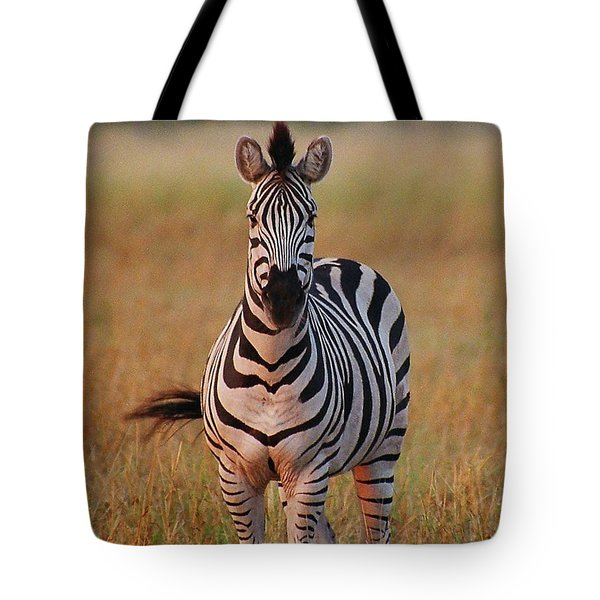 Sunset Zebra Tote Bag