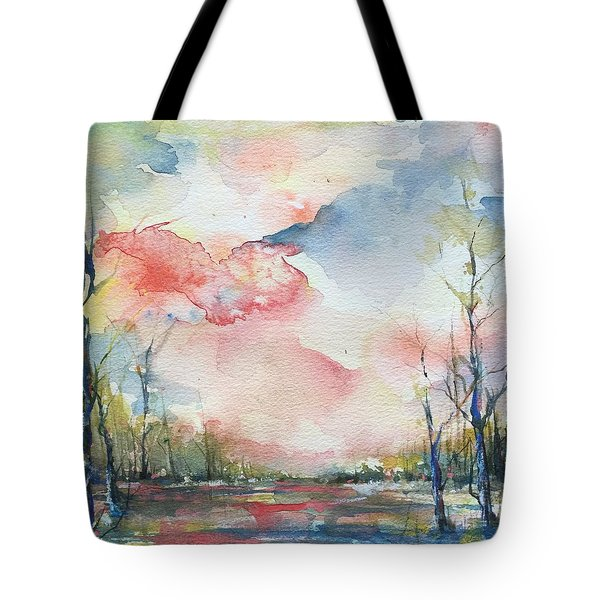 Sunsets Grace On The River Tote Bag