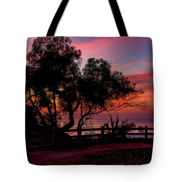 Sunset Silhouettes From Palisades Park Tote Bag