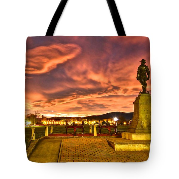 Sunset's Veil Tote Bag