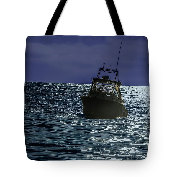 Sunsetting On Fisher Betting Tote Bag