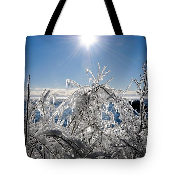 Sunshine And Ice Tote Bag