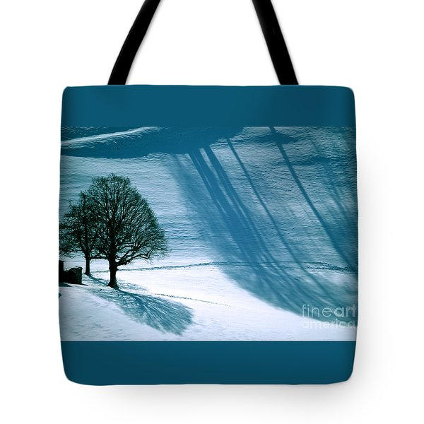 Tote Bag featuring the photograph Sunshine And Shadows - Winterwonderland by Susanne Van Hulst