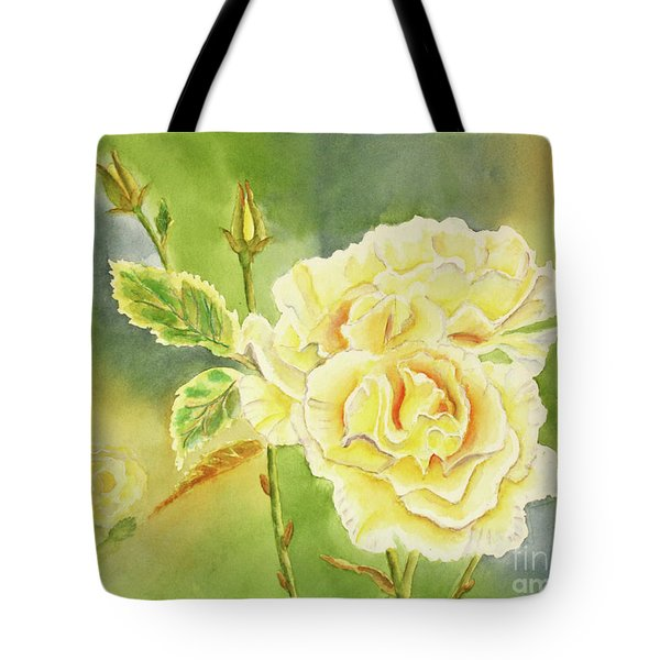 Sunshine And Yellow Roses Tote Bag by Kathryn Duncan
