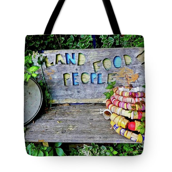Tote Bag featuring the painting Sunshine Bench by Joan Reese