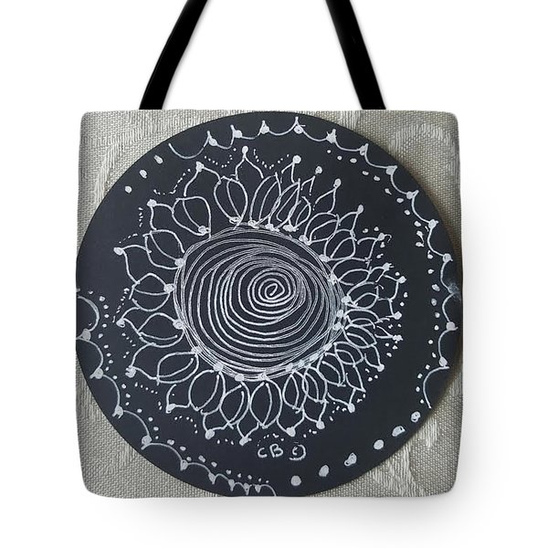 Tote Bag featuring the drawing Sunshine by Carole Breccht