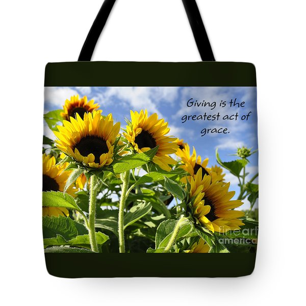 Tote Bag featuring the photograph Sunshine Lollipops Grace by Diane E Berry
