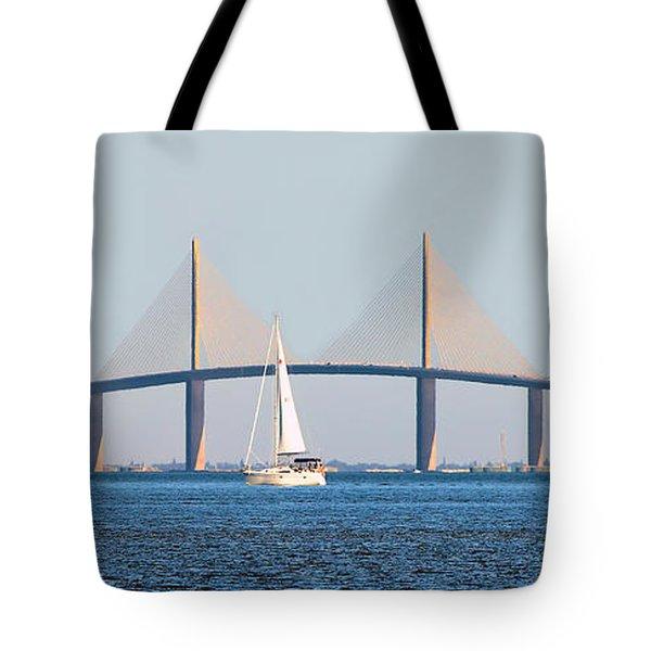 Sunshine Skyway Bridge #2 Tote Bag