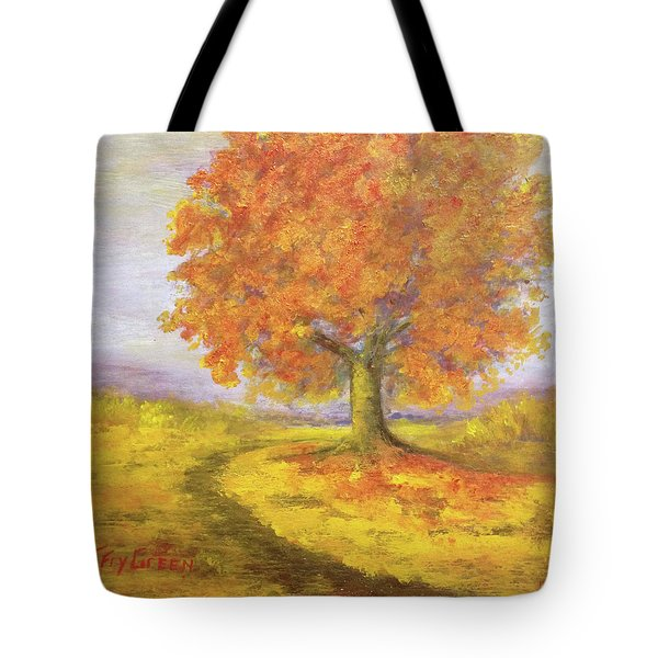 Sunshiney Kind Of Morning Tote Bag by T Fry-Green