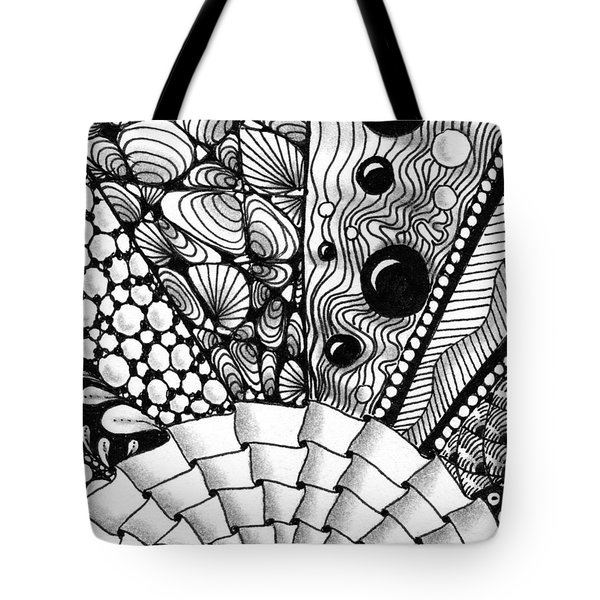 Tote Bag featuring the drawing Sunsplosion by Jan Steinle
