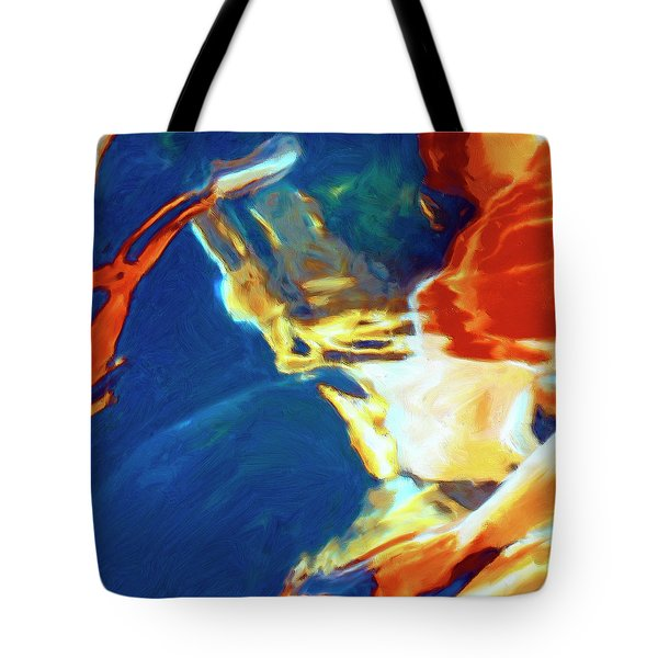 Tote Bag featuring the painting Sunspot by Dominic Piperata