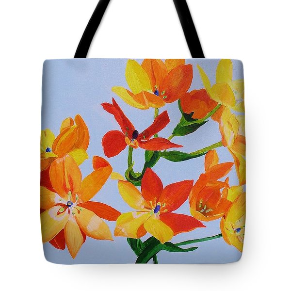 Tote Bag featuring the painting Sunstar by Rodney Campbell