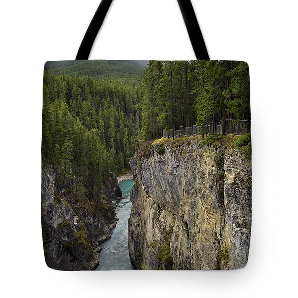 Sunwapta Falls Canyon Tote Bag by John Gilbert
