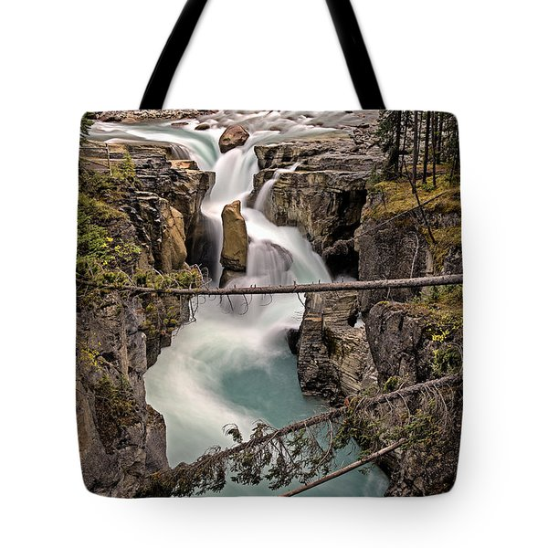 Sunwapta Falls Tote Bag by John Gilbert
