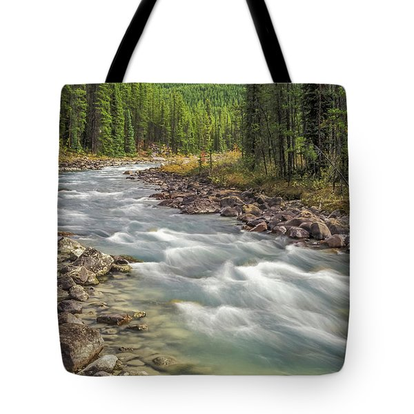Tote Bag featuring the photograph Sunwapta River 2005 01 by Jim Dollar