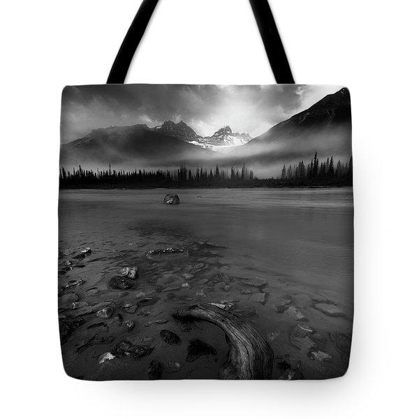 Sunwapta River, Jasper Tote Bag