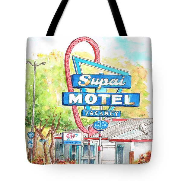 Supai Motel In Route 66, Seliman, Arizona Tote Bag