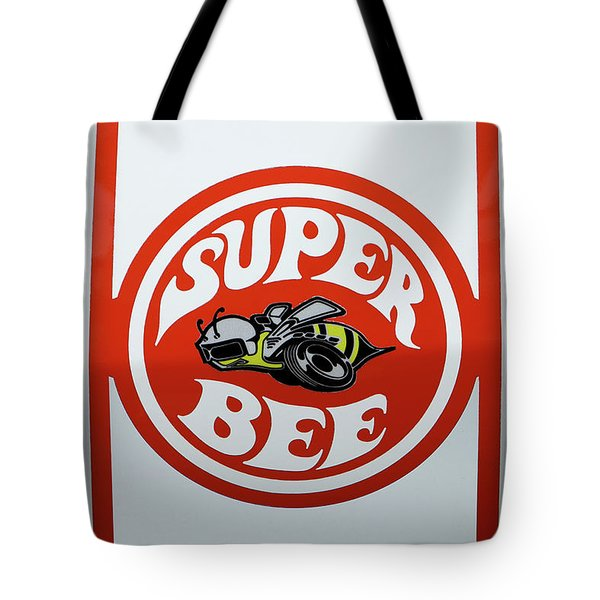 Tote Bag featuring the photograph Super Bee Emblem by Mike McGlothlen