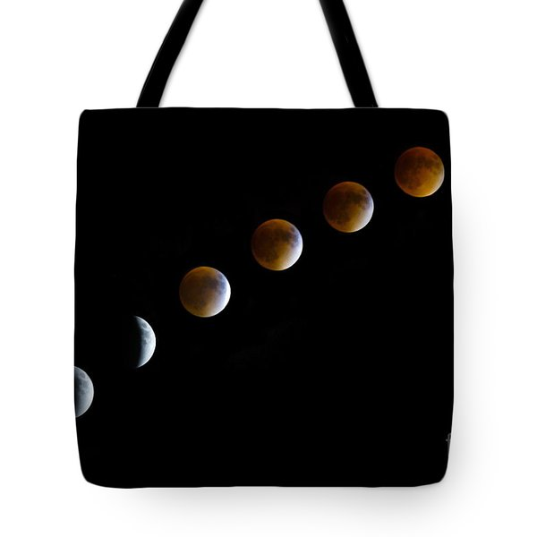 Super Blood Moon Time Lapse Tote Bag