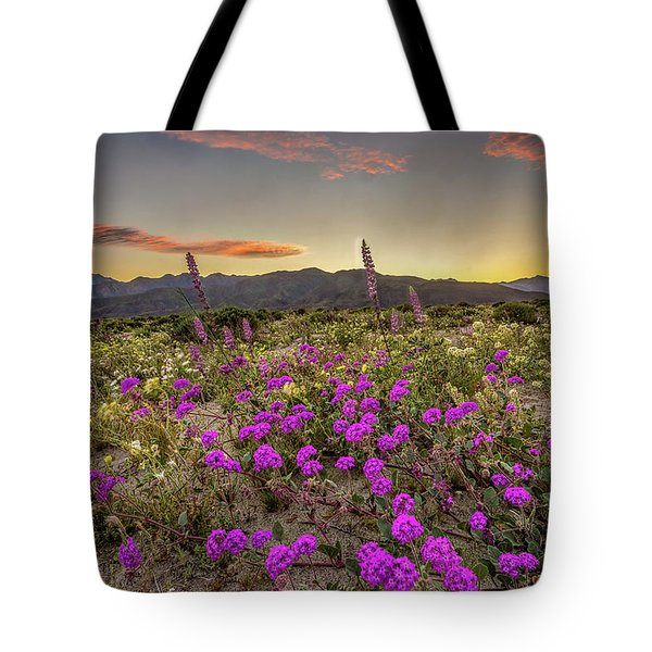 Tote Bag featuring the photograph Super Bloom Sunset by Peter Tellone