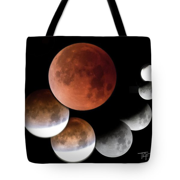 Tote Bag featuring the photograph Super Blue Blood Moon by T A Davies
