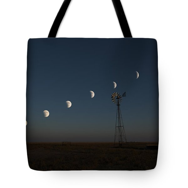 Super Comanche Blood Moon Eclipse Tote Bag by Karen Slagle