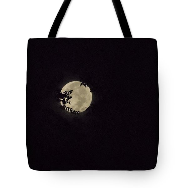 Tote Bag featuring the photograph Super Moon At Dawn by Deborah Moen