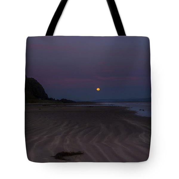 Super Moon At Downhill Beach Tote Bag