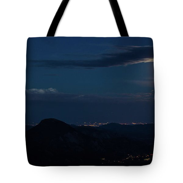 Tote Bag featuring the photograph Super Moon Eclipse by Tyson Kinnison