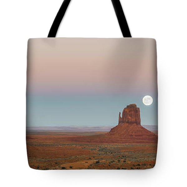 Super Moon In Monument Valley Tote Bag
