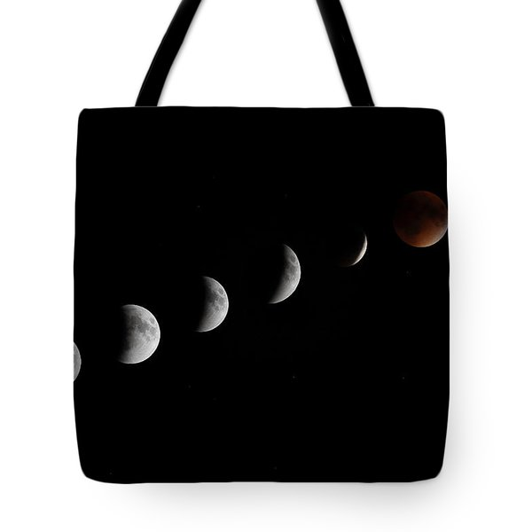 Super Moon Lunar Eclipse Tote Bag by Barbara West