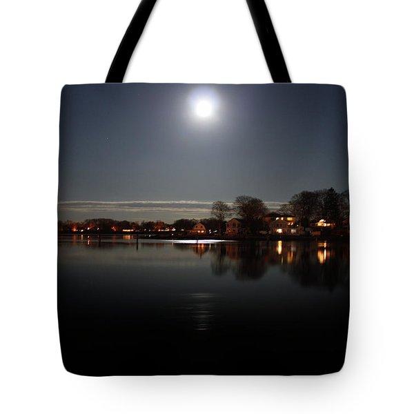 Super Moon  Tote Bag by Mark Ashkenazi