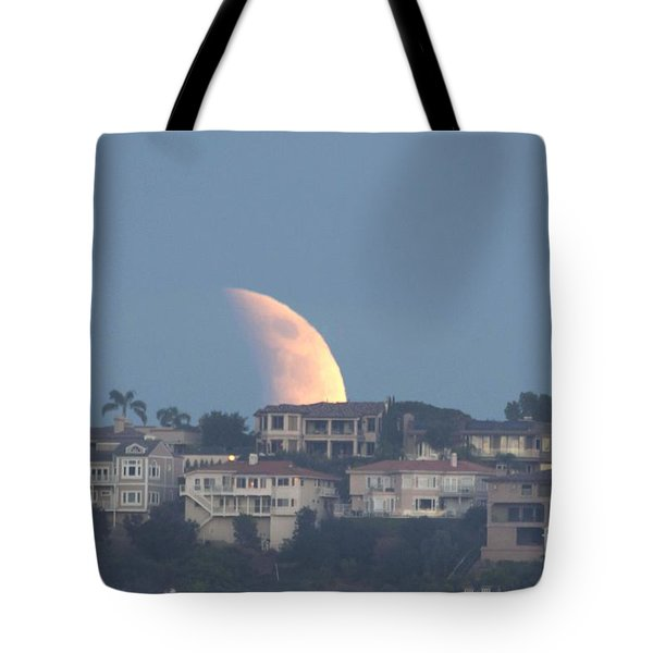 Super Moon Rise Tote Bag by Loriannah Hespe