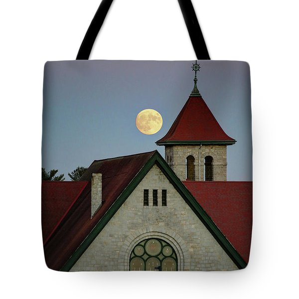 Super Moon Rising Tote Bag