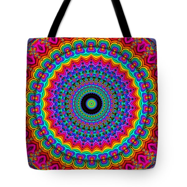 Super Rainbow Mandala Tote Bag