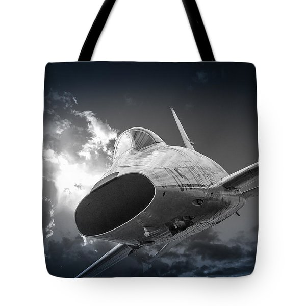 Super Sabre Rolling In On The Target Tote Bag