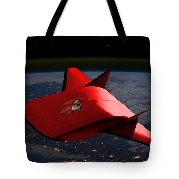 Tote Bag featuring the digital art Super Sleigh by Walter Chamberlain