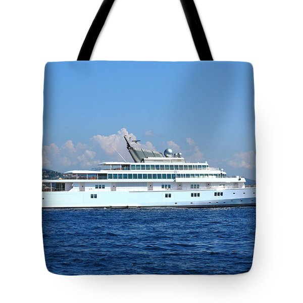 Tote Bag featuring the photograph Super Yacht by Richard Patmore