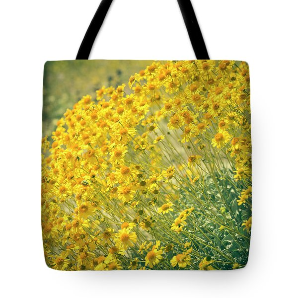 Superbloom Golden Yellow Tote Bag by Amyn Nasser