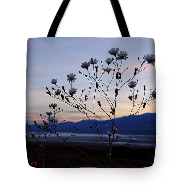 Superbloom Sunset In Death Valley 102 Tote Bag by Daniel Woodrum