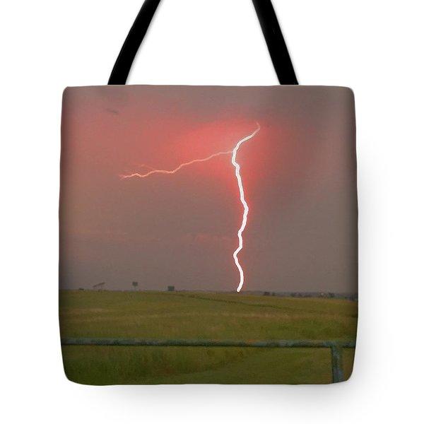Superbolt On The Prairie Tote Bag