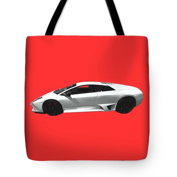Supercar In White Art Tote Bag