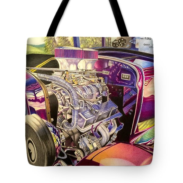 Supercharged Antique 1931 Ford Coupe  Tote Bag
