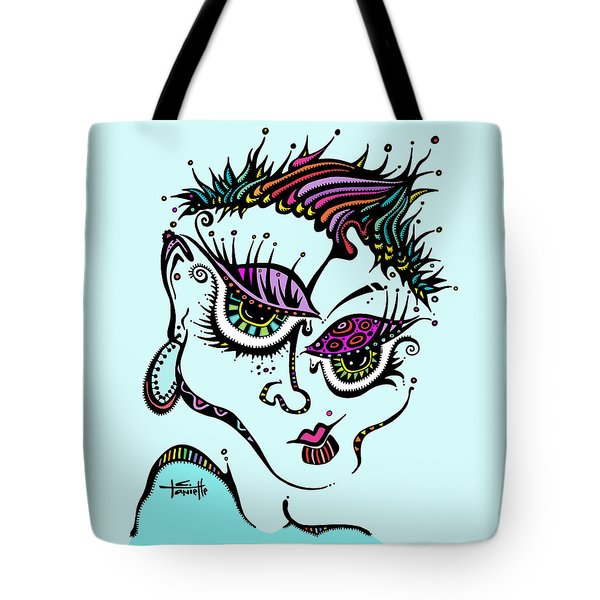 Tote Bag featuring the drawing Superfly by Tanielle Childers