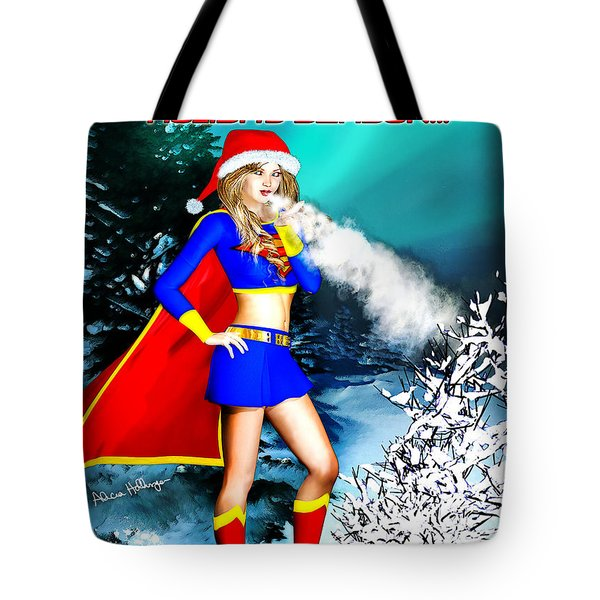 Supergirl Holiday Greeting Card Tote Bag