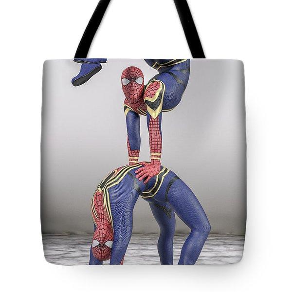 Superhero Acroyoga Pose One Tote Bag