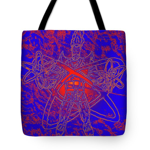 Superhero Sketch Enhanced Tote Bag