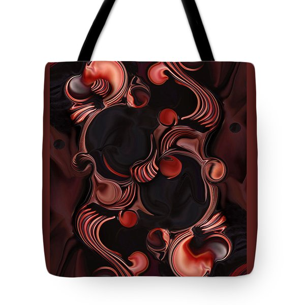 Superimposed Ellipse  Tote Bag by Carmen Fine Art
