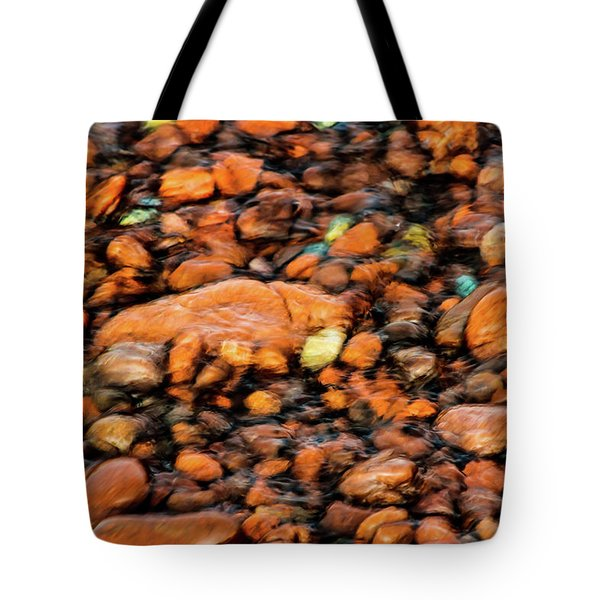 Superior Beach Rocks Tote Bag